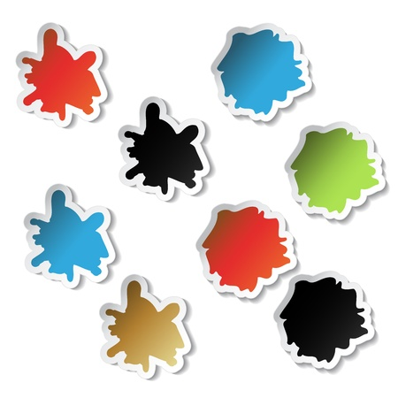 splodge: Vector splotch stickers