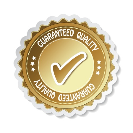 Vector sticker - guaranteed quality Vector