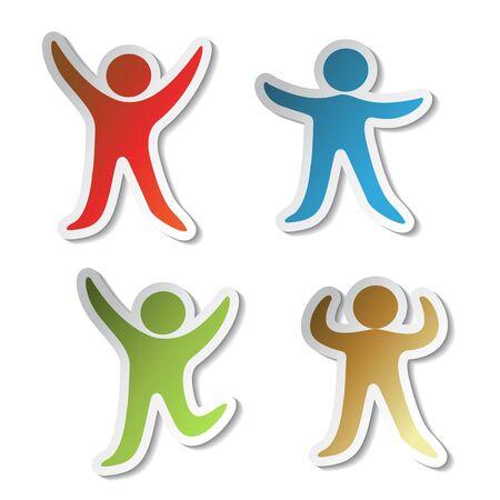 singpost: Vector stickers of human