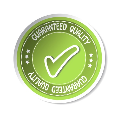 Vector sticker - guaranteed quality