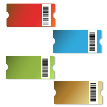 number code: Vector shopping tags