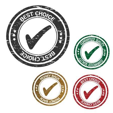 approved button: Vector sticker - guaranteed quality