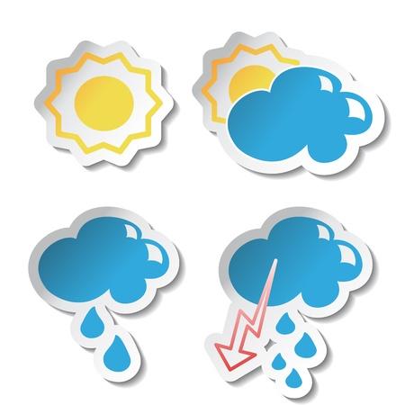 Vector weather stickers Vector