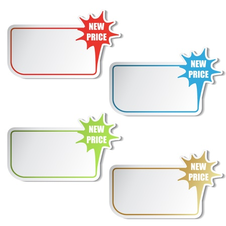 selling off: Vector shopping stickers Illustration