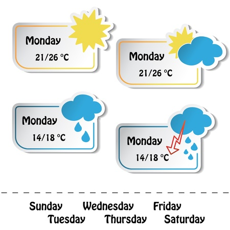 Vector weather banners Vector