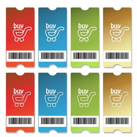 coupon template: Vector shopping tickets