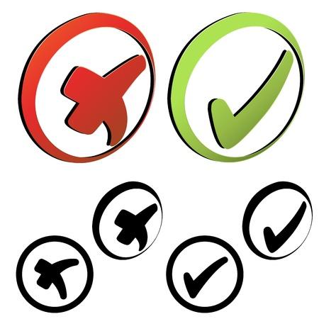 Vector symbols - check mark Vector
