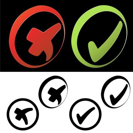 cross process: Vector symbols - check mark Illustration