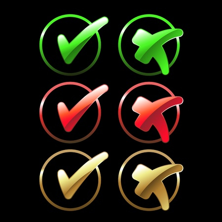 check marks: Vector buttons - check marks