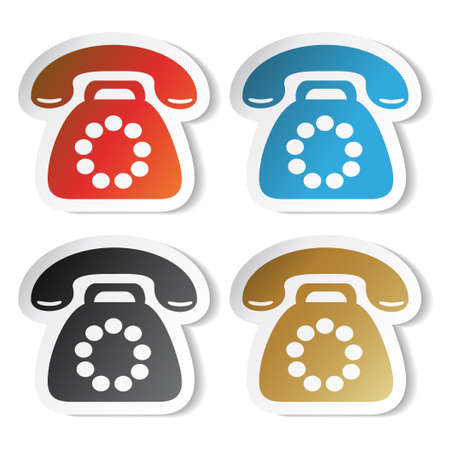 telephone call: Vector phone stickers