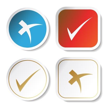 Vector stickers - check mark Stock Vector - 11490941