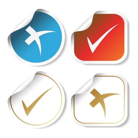 Vector stickers - check mark Vector