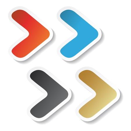 white pointer: Vector arrow stickers