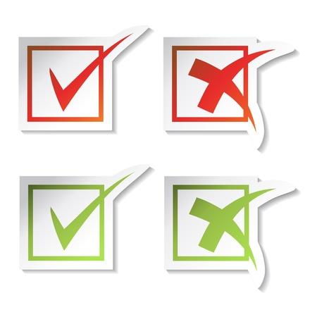 Vector check mark stickers Stock Vector - 11490938