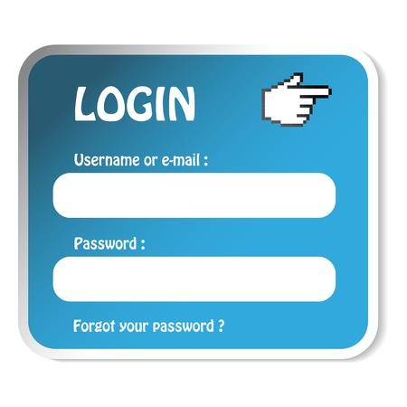 Vector login form Stock Vector - 11490932