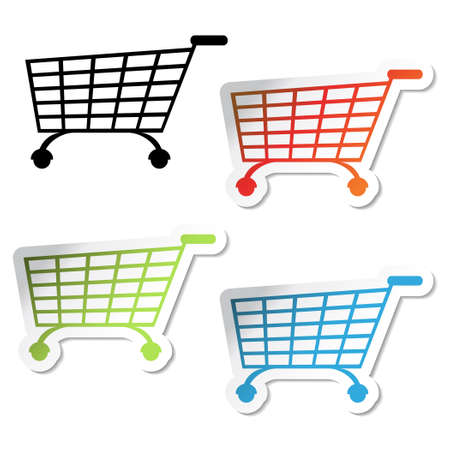 Vector shopping stickers Vector