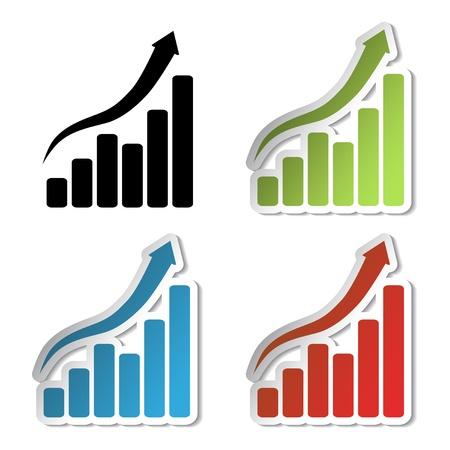 Vector stickers van de grafiek