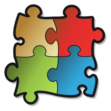 piece of paper: Vector puzzle sticker