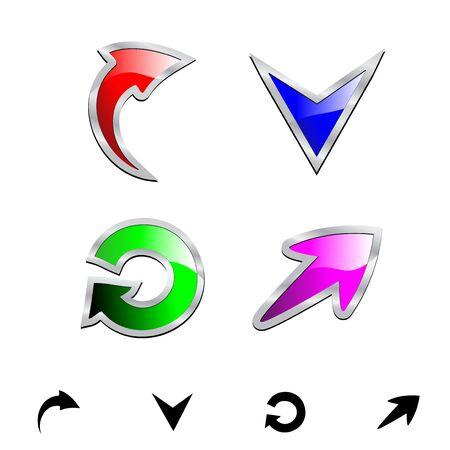 Vector set of arrows Stock Vector - 11512892