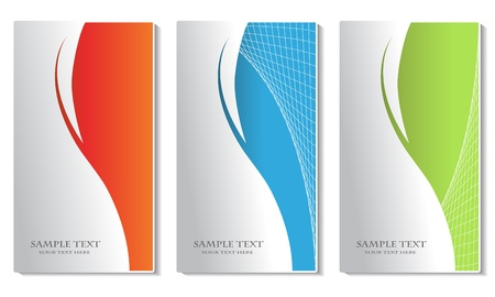 visual presentations: Vector business cards