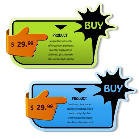 Vector shopping cards Vector