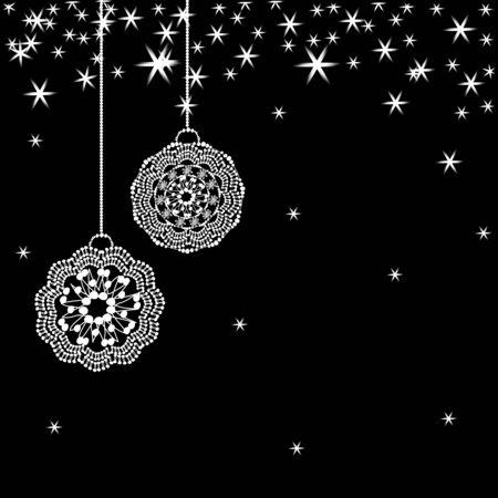 winter wallpaper: Vector Christmas card  Illustration