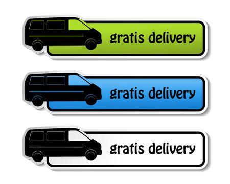 gratis: Vector banners - gratis delivery Illustration