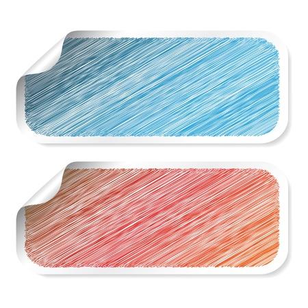 scrape: Vector rectangle scratch stickers Illustration