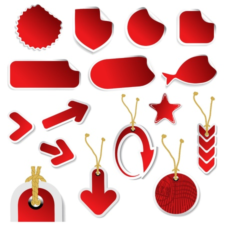 Vector set of stickers and tags Stock Vector - 11513228
