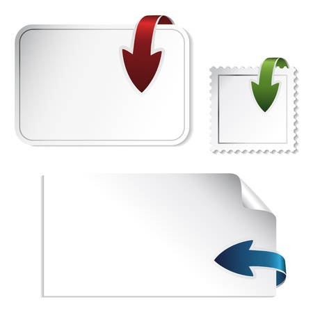 Vector navigation arrows on the stickers Stock Vector - 11513014