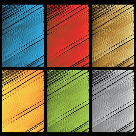 dashed: Vector set of scratch textures Illustration