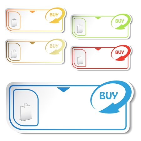 sticky notes: Vector shopping cards