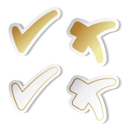 Vector check mark stickers Stock Vector - 11513214
