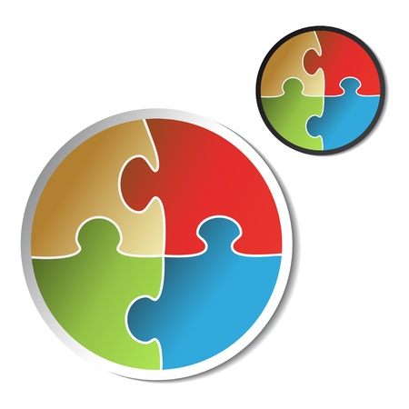 Vector puzzle sticker Vector
