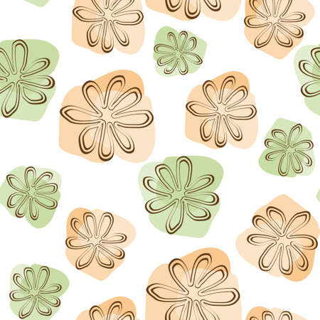 combinations: Vector seamless floral background Illustration
