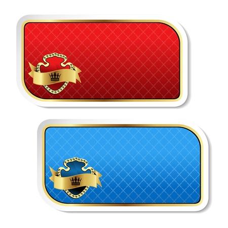 blue shield: Vector royal labels