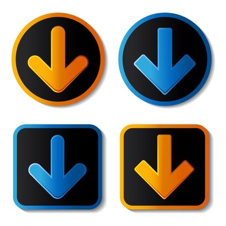 Vector download banners Vector