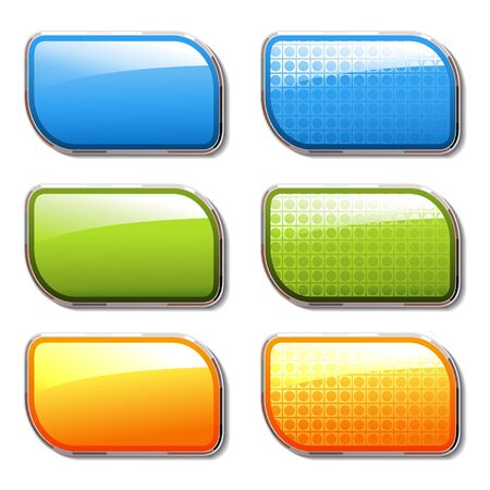 sticky note: Vector shiny color buttons