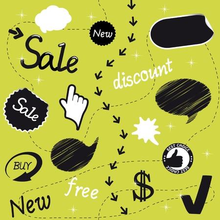 Vector sale set Stock Vector - 11513115