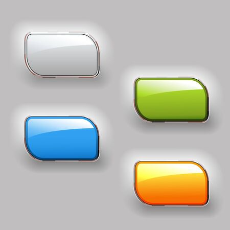shiny buttons: Vector shiny buttons