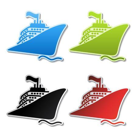Vector ship stickers Vector