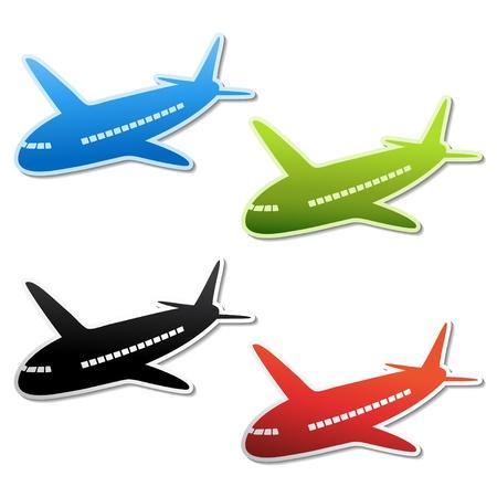 saubere luft: Vector Flugzeug Aufkleber Illustration