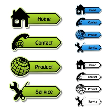 home product: Vector banners - home, contact, product, service
