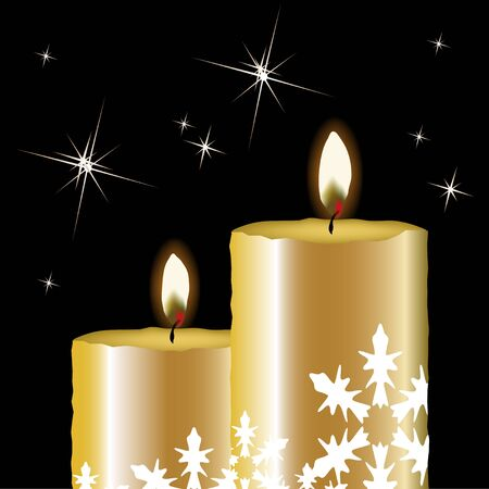 candle flame: Vector Christmas candles Illustration