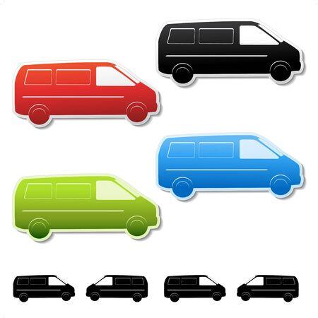 Vector car stickers - gratis delivery Vector