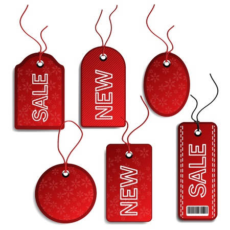 sewn: Vector sale Christmas tags