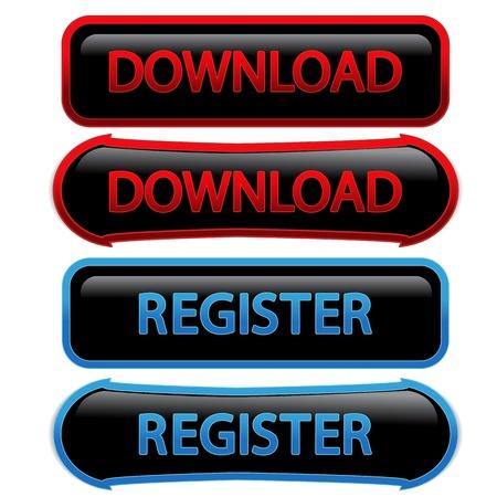 Vector buttons - download, register Vector