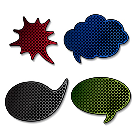 Vector speech bubbles Vector