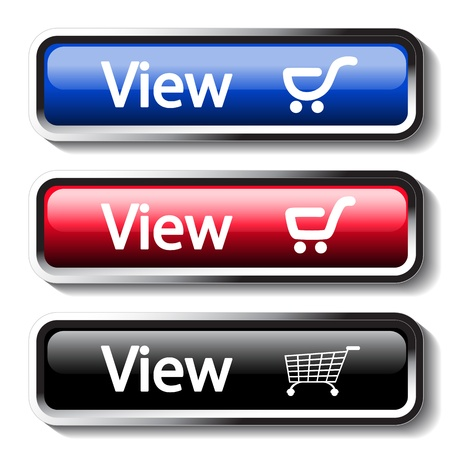 product cart: Vector set of shop buttons
