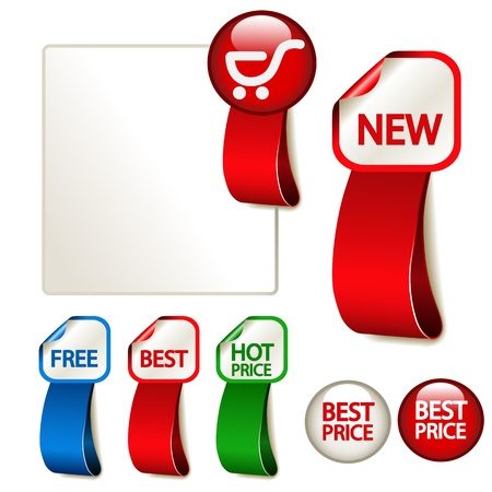 Vector advertising labels Stock Vector - 11512972